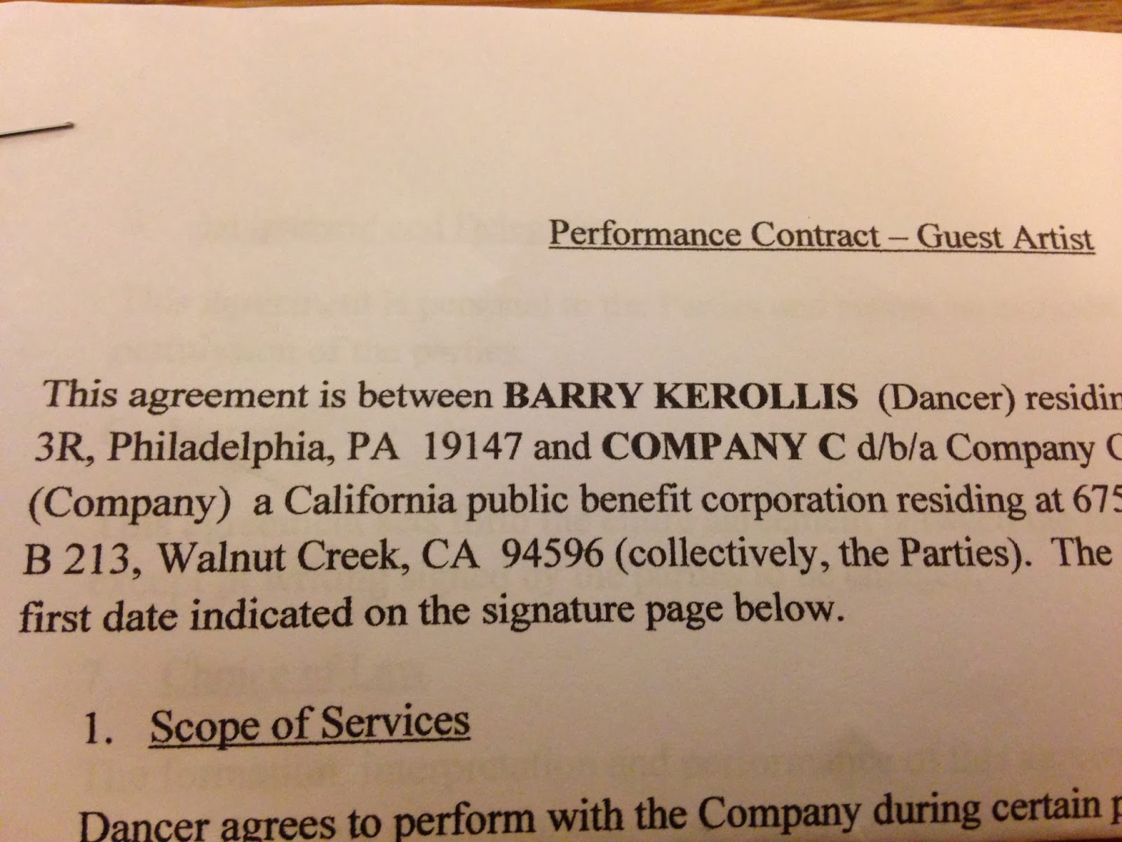 life of a lance dancer contract talk important items to  contract talk important items to have in writing