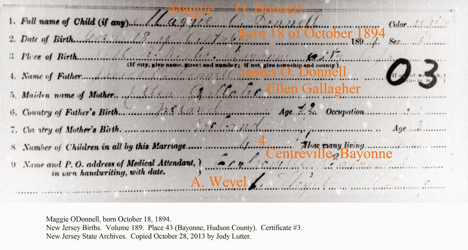 Family History Research By Jody Lutter Birth Certificate Mix Up