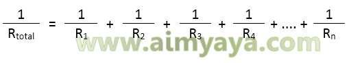 Gambar: Rumus Hambatan Resistor pada Rangkaian paralel