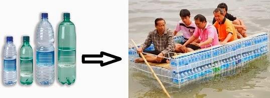 Perahu unik dari Botol Bekas