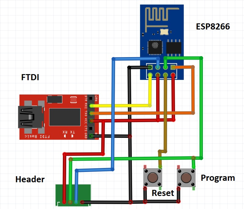 Esp8266 01 Programming Board on 4 pin relay