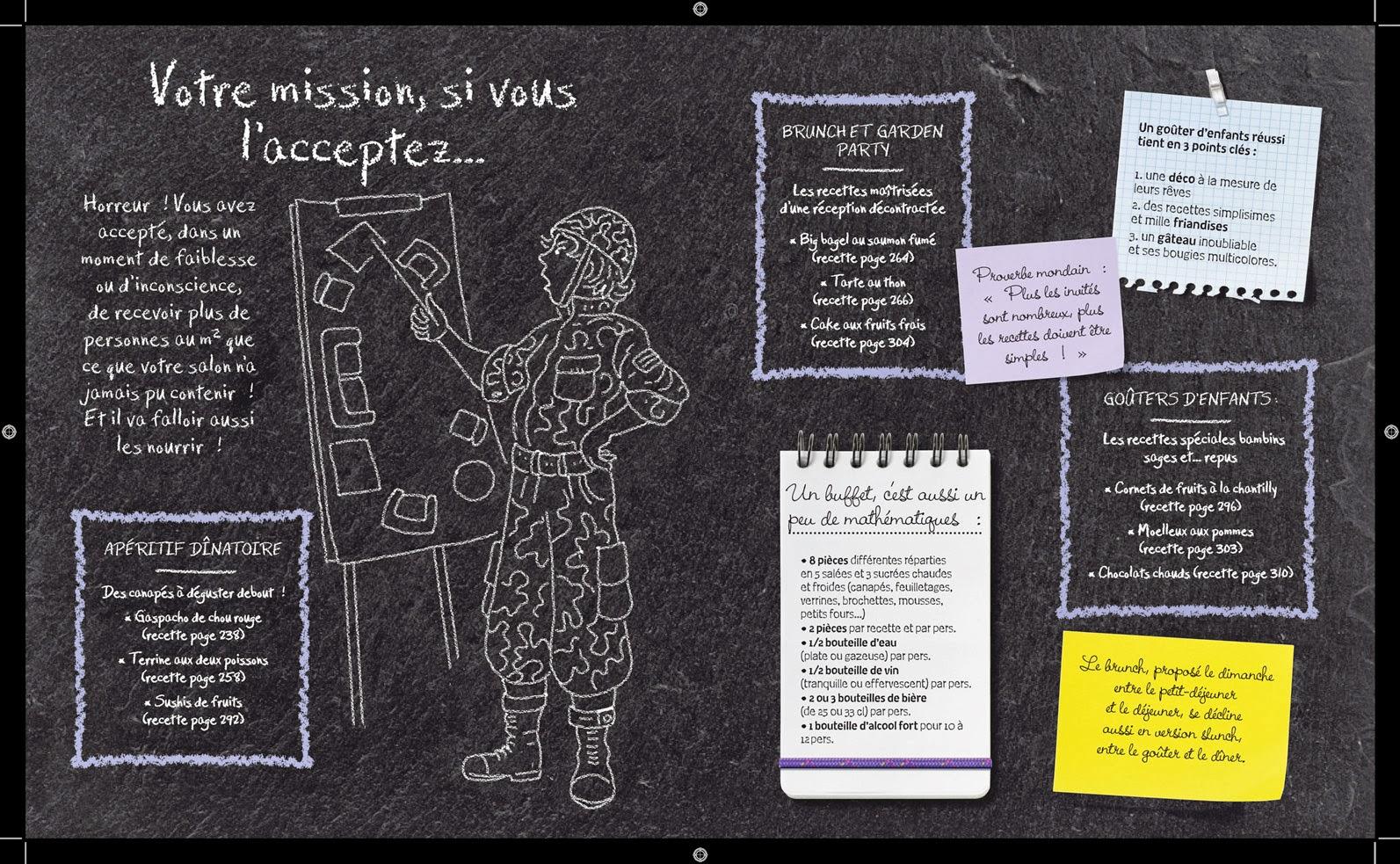 """""""1001 idées pour cuisiner sans se ruiner"""" & """"1001 idées pour inviter sans  stresser"""", Larousse"""