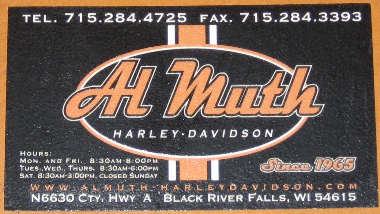 My Harley Cards: Al Muth Harley Davidson