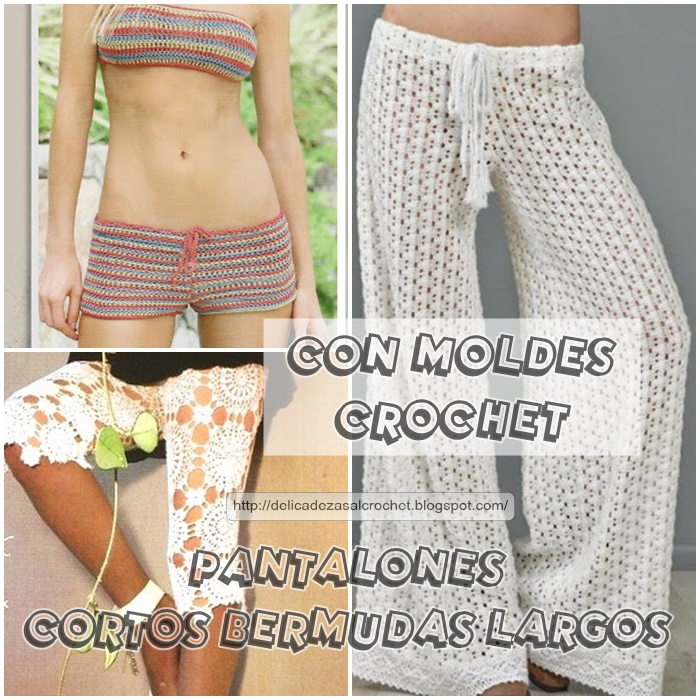 Delicadezas en crochet Gabriela: Pantalones de damas con patrones