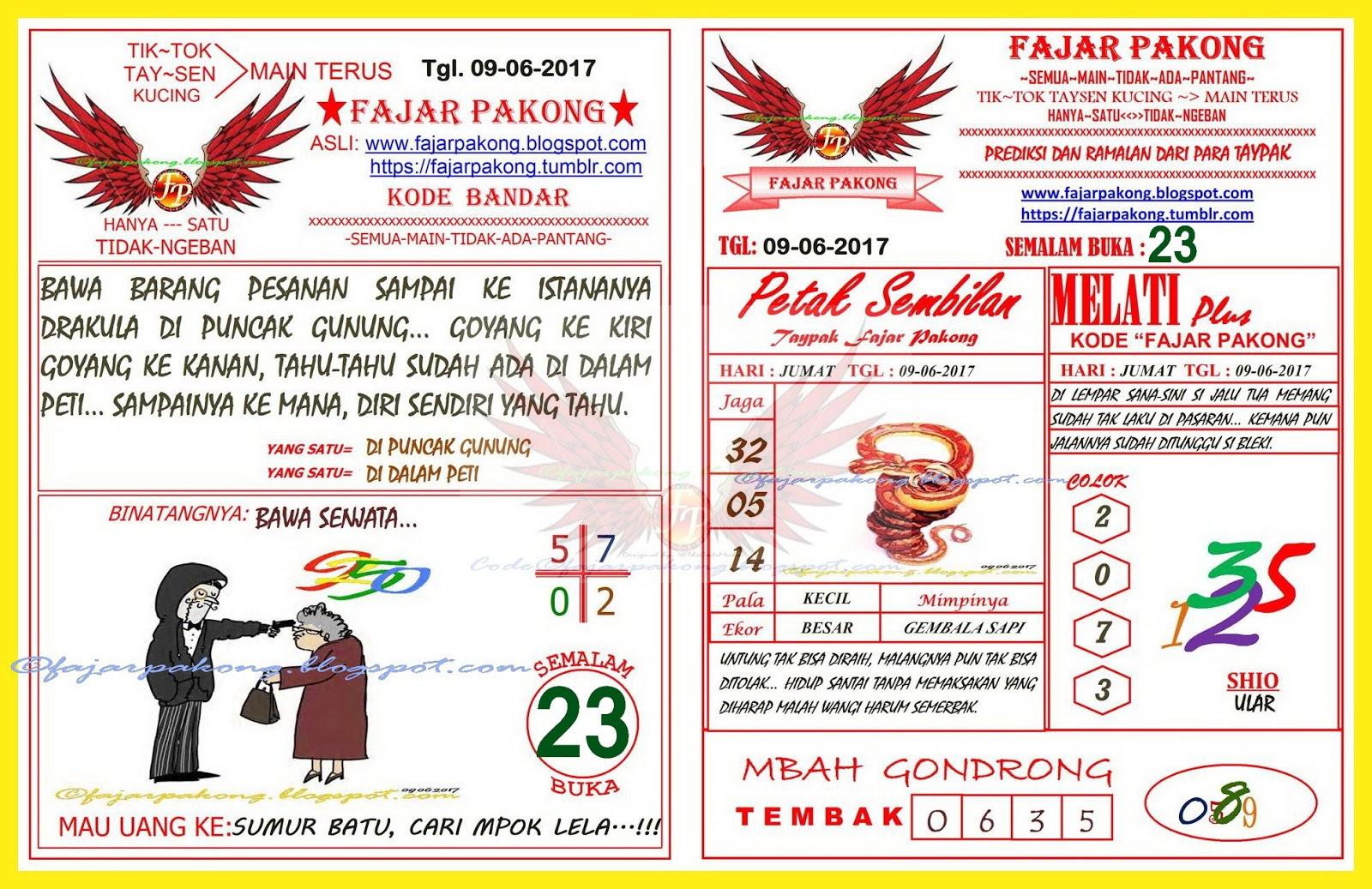 Forum Syair Hk Batik Hongkong Jumat 9 Juni 2017