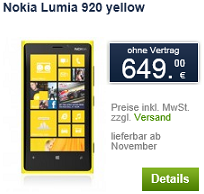 Nokia Lumia 920 price
