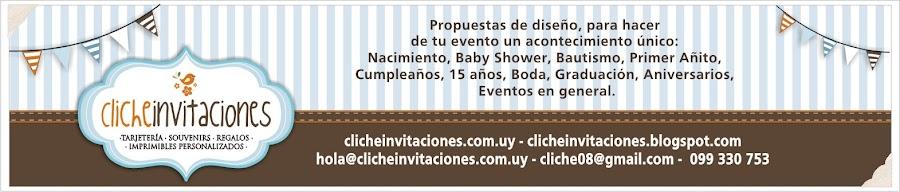 Cliche invitaciones -Tarjetas de cumpleaños, invitaciones infantiles, tazas, souvenirs