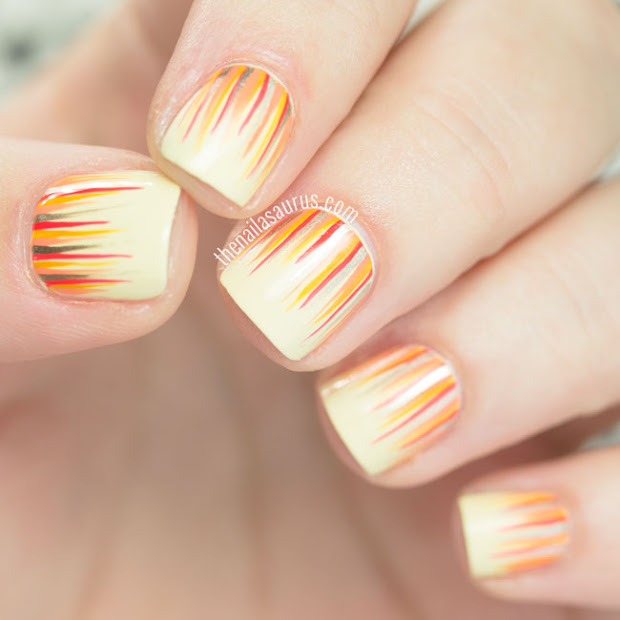 31dc2015 yellow nails with waterfall