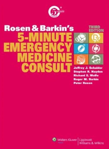Rosen&Barkin Sổ tay Lâm sàng Cấp cứu 3e