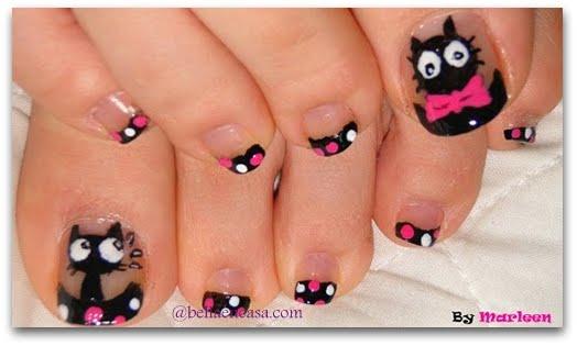 Uñas de pies con Flores