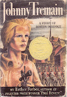 very old bookcover of JOHNNY TREMAIN by Esther Forbes