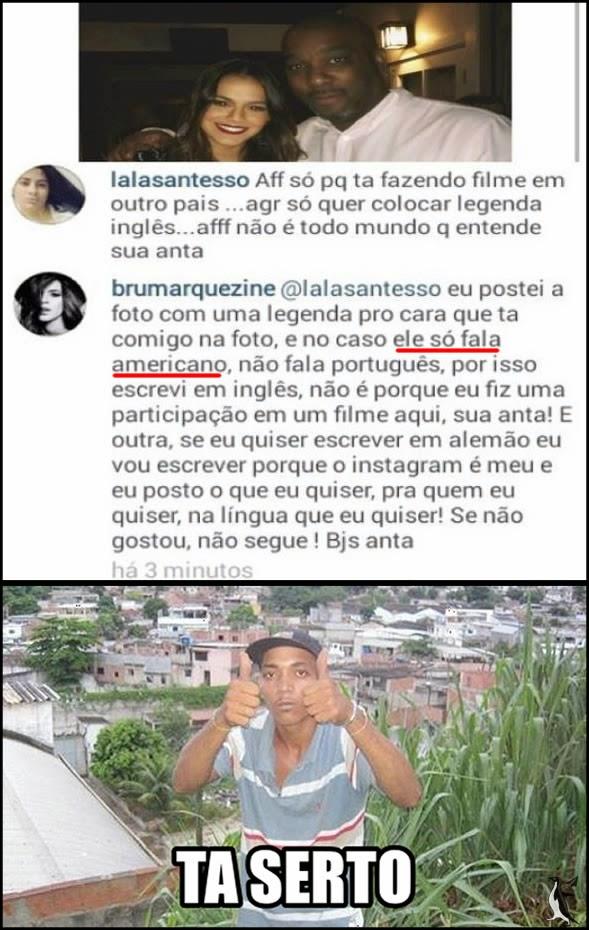 Bruna Marquezine responde fã e comete vários erros de português