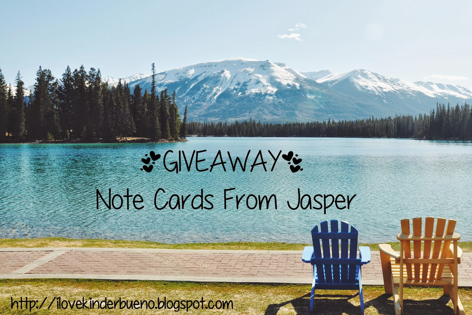 http://ilovekinderbueno.blogspot.ca/2014/07/giveaway-note-cards-from-jasper.html