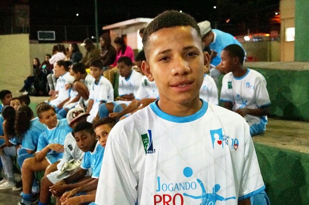 O aluno Lucas da Silva diz que no projeto todos são como uma família