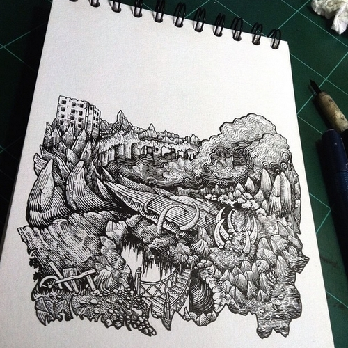 24-Jungle-Muthahari-Insani-Beautifully-Detailed-Ink-Drawings-and-Doodles-www-designstack-co