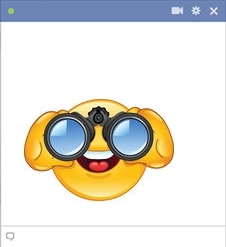 Binoculars Smiley Code For Facebook Chat