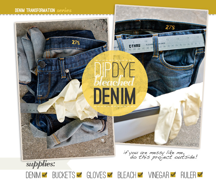 DIY Dip Dye Bleach Denim Jeans