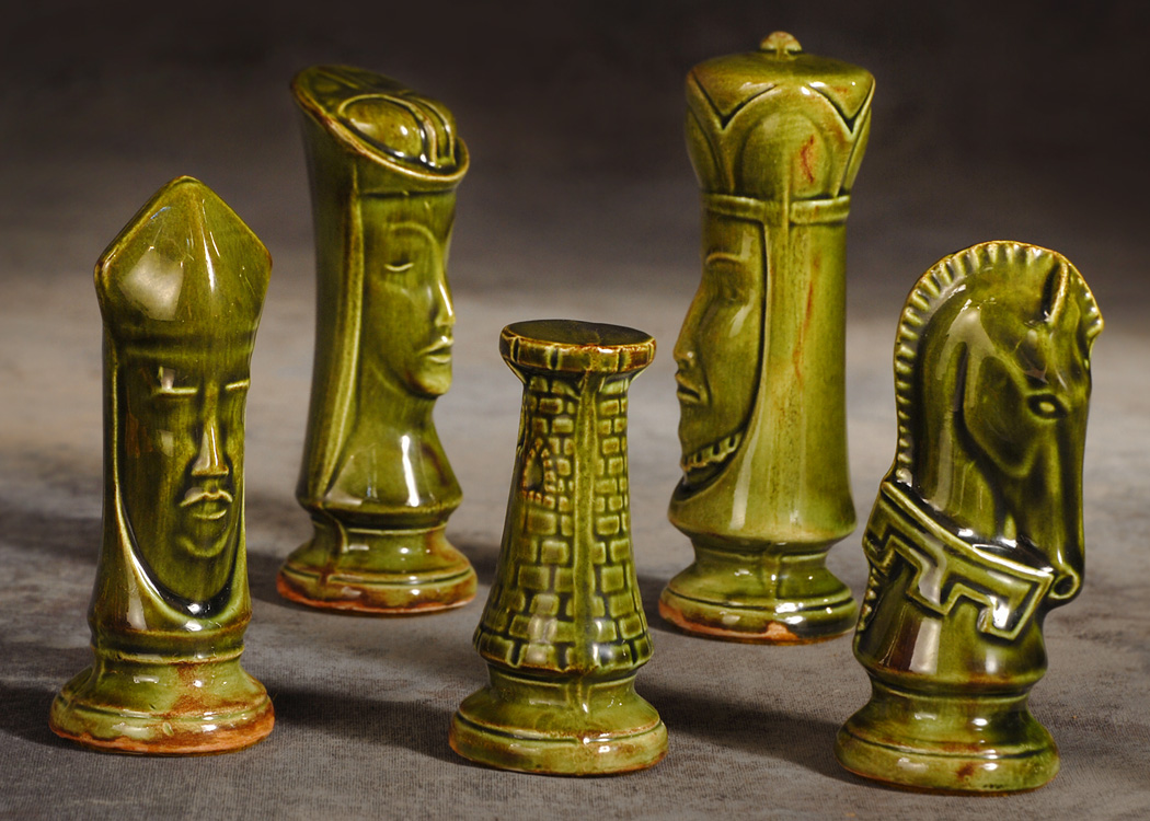 The Garage Sale Archeologist Mid Century Modern Chess Set