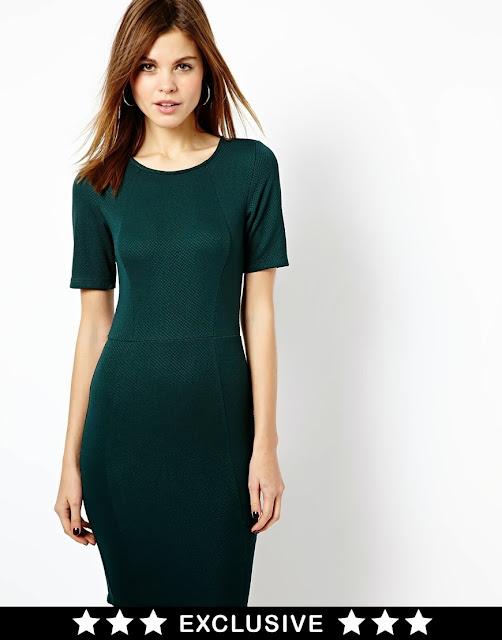 warehouse green dress