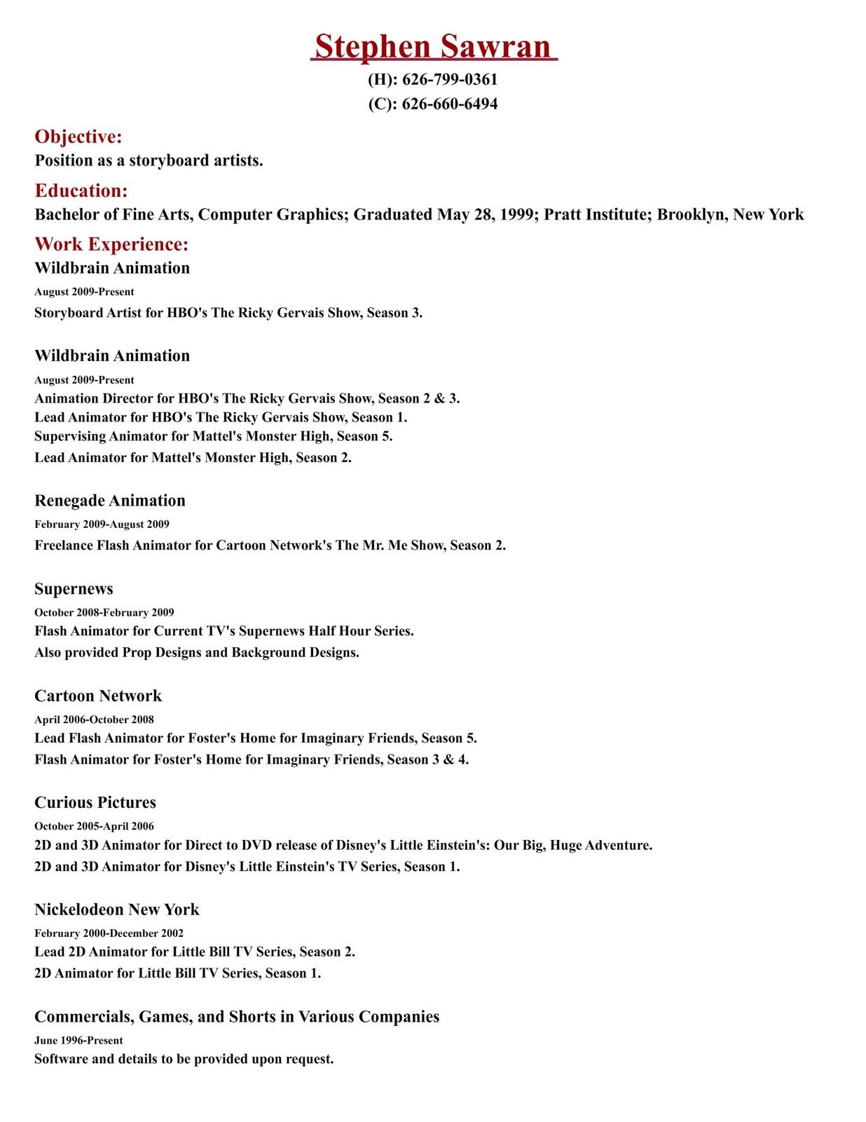 stephen sawran resume
