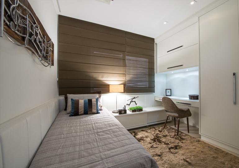 Cama encostada na parede veja quartos de casal e  ~ Quarto Solteiro Com Tv Na Parede