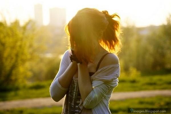 Emotional, girl, sad, alone, crying, sunset