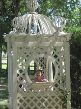 Mom in gazebo ...shade is good