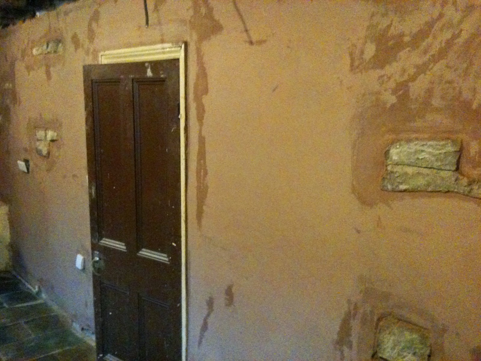 Finished plaster.