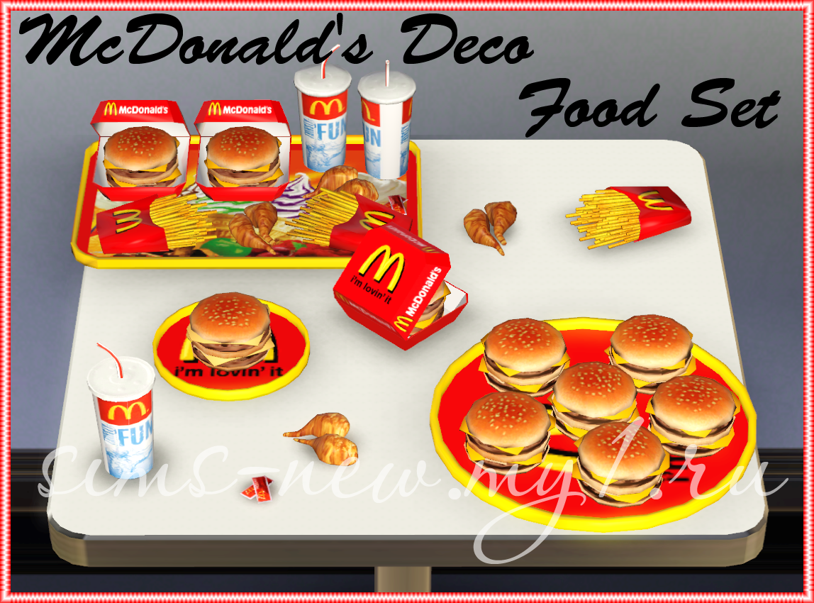 My sims 3 blog mcdonald 39 s deco food set by helen - Deco snack ...