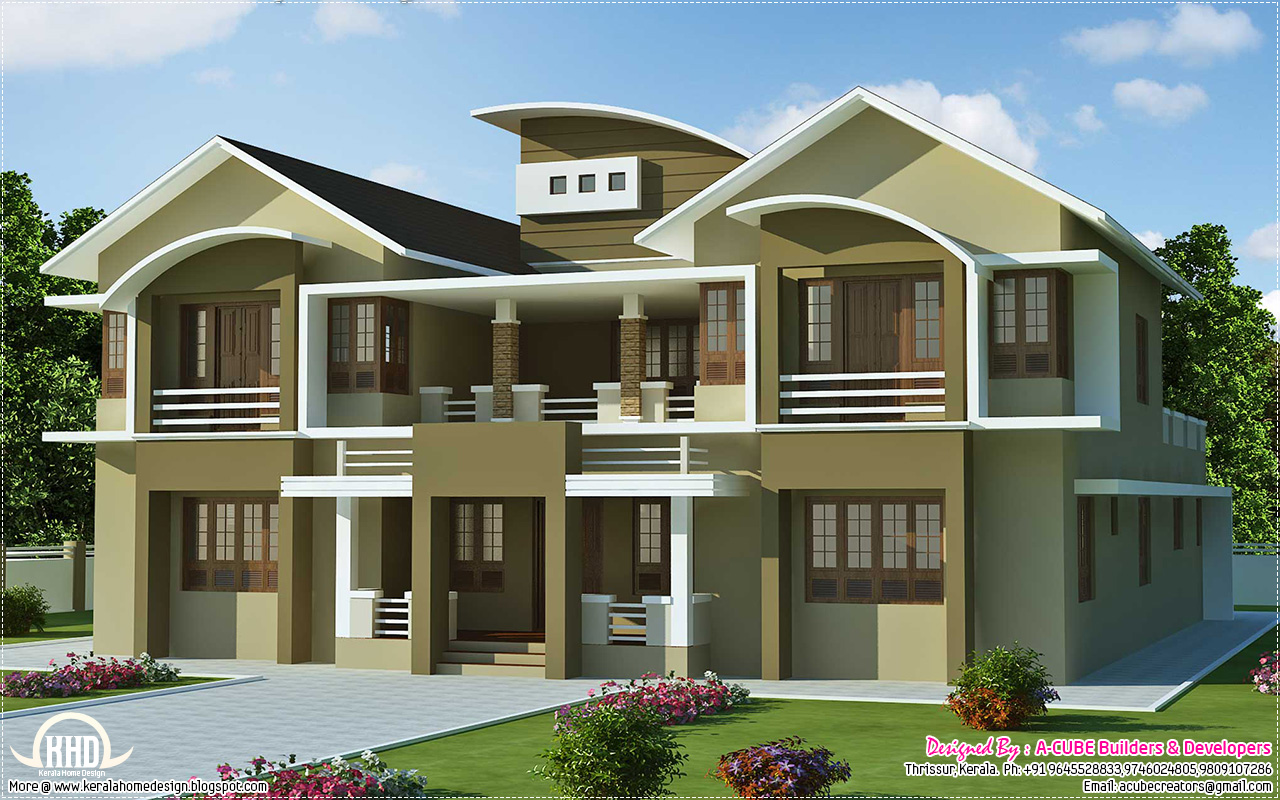 6 bedroom luxury villa design in 5091 kerala for New home designs