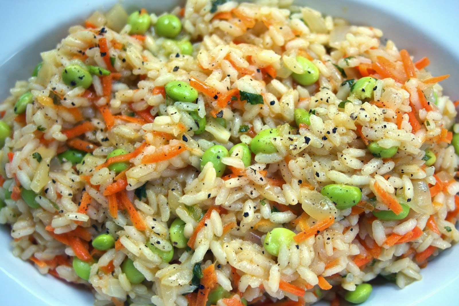 Vegetable Risotto: Baby Carrot & Fava Beans: simplelivingeating.com