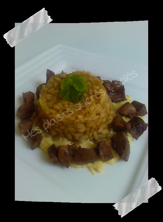 Rognon de porc avec risotto et sa cr me moutard e blogs - Cuisiner rognons de porc ...