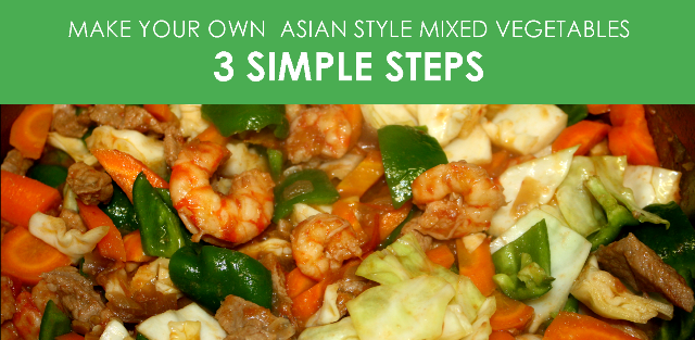 How to cook mixed vegetables in a can