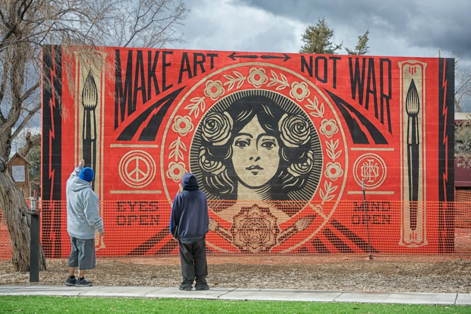 Shepard Fairey New Mural In Santa Fe, Usa  Streetartnews. Clingy Signs Of Stroke. Superhero Lego Stickers. Rider Logo. Flat Icons Signs. Otter Logo. Channel Disney Signs Of Stroke. Latino Culture Murals. Golf Cart Decals