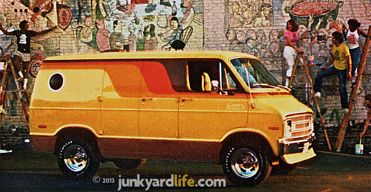 1977 Dodge van ad featured custom paint, wheels.