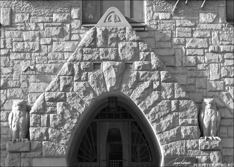 Совы на доме Претро - Большой проспект Петроградской стороны, Санкт-Петербург. Северный модерн