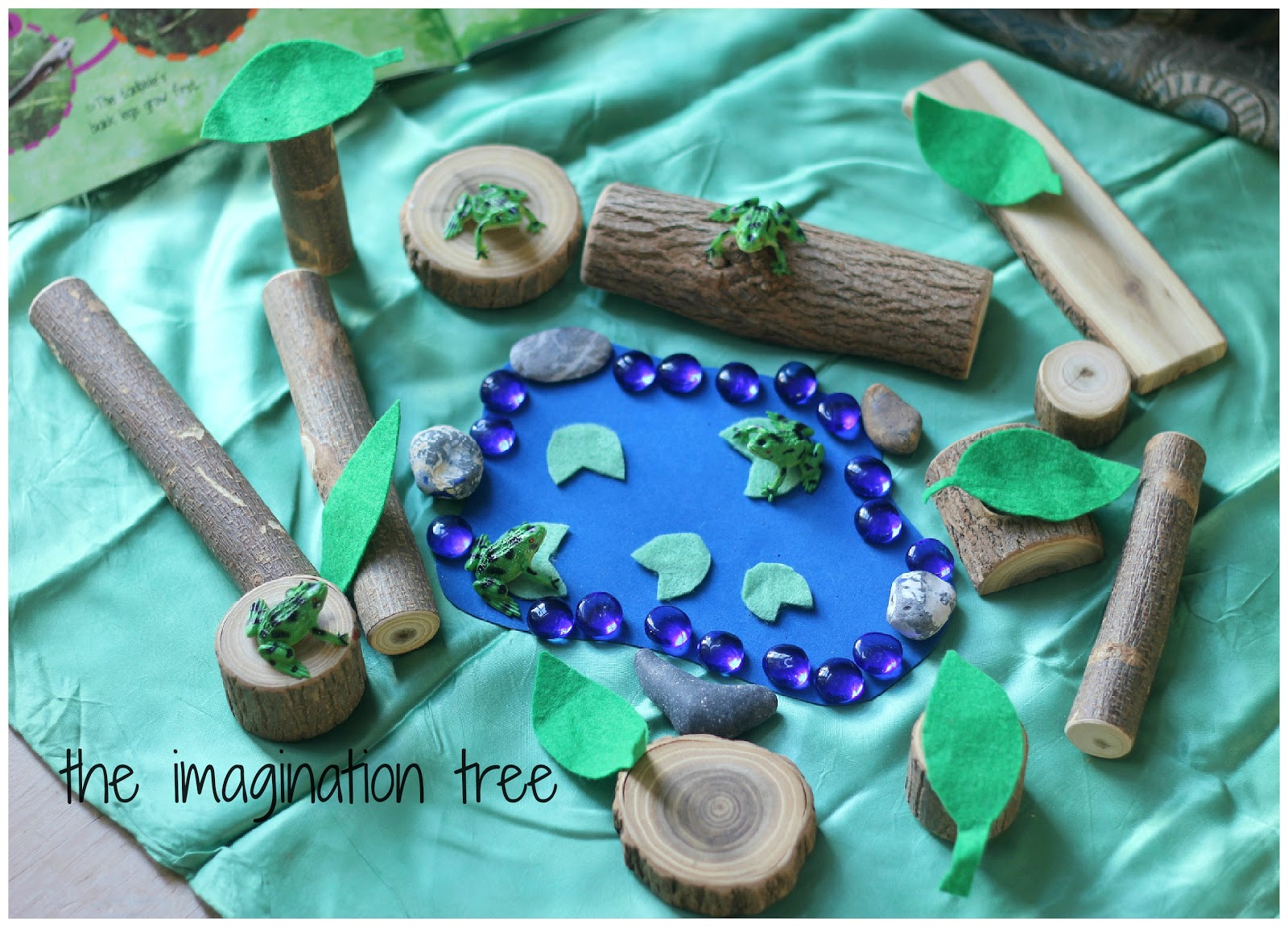 5 speckled frogs natural small world play the for Small frog pond ideas