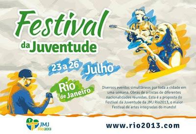 #JMJRio2013: Festival da Juventude acontece em 130 pontos no Rio de Janeiro
