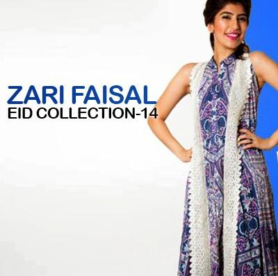 Zari Faisal Eid Collection 2014-2015 | Work by Zari Faisal Eid Dresses