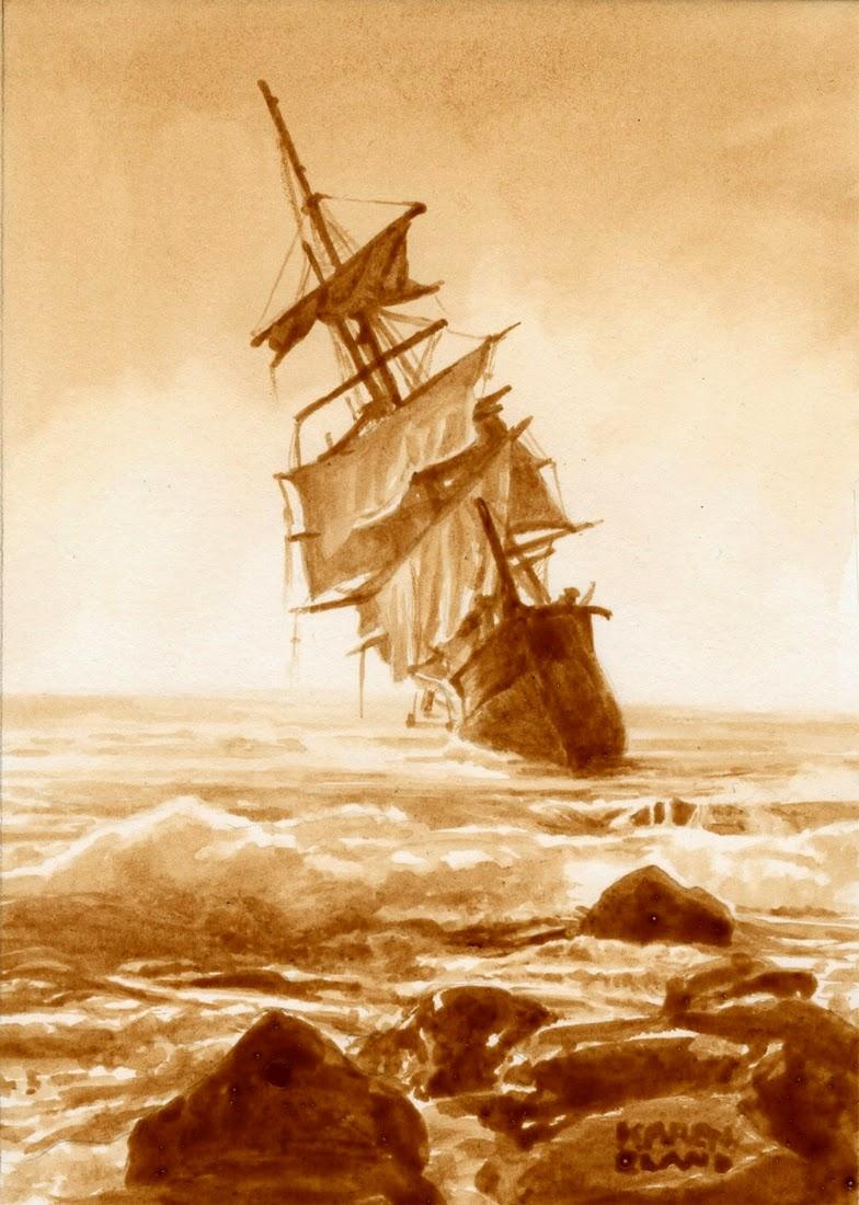 23-A-Rummy-Shipwreck-Karen Eland-Vintage-Looking-Beer-and-Water-Paintings-www-designstack-co