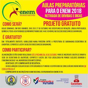 AULAS PREPARATÓRIAS PARA O ENEM DE FORMA GRATUITA!