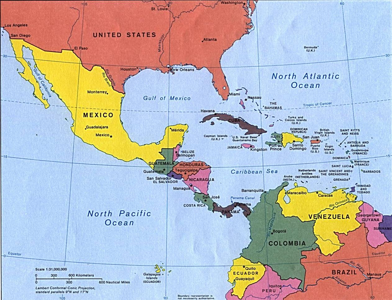 central america Stretching from panama to northern canada, north and central america is the only continent where you can find every climate type it is also home to over 500 million.
