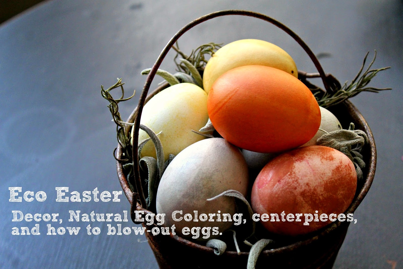 Eco Easter: How to blow out and naturally color eggs.