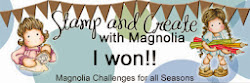winner Stamp and create  with magnolia challenge