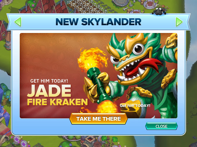 Jade Fire Kraken in Skylanders Lost Islands