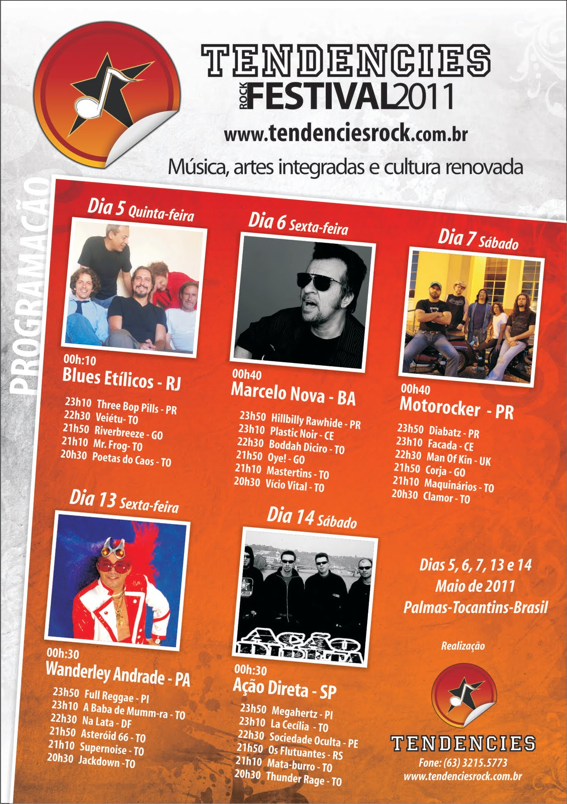 Programação Oficial do 8º Tendencies Rock Festival