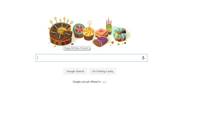 Google Wishing HBD To Ghulam Haider (Blogger)