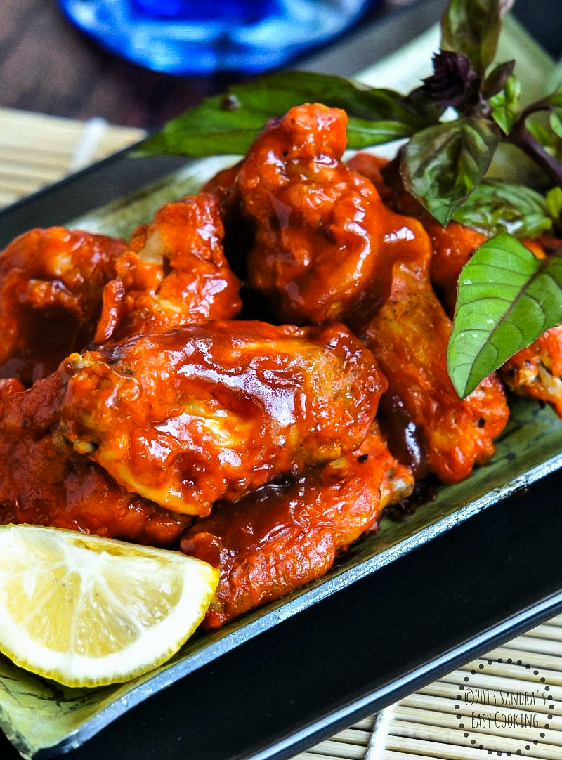 Asian styile for Spicy Chicken Wings in Honey-Sriracha Sauce recipe