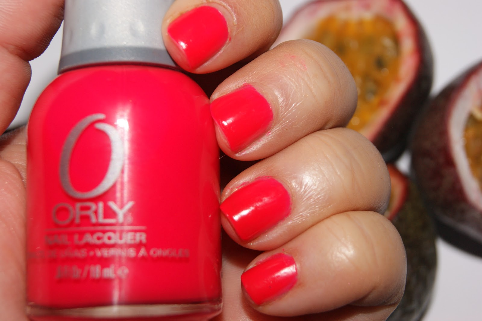 Orly Passion Fruit Nail Polish - Review | The Sunday Girl