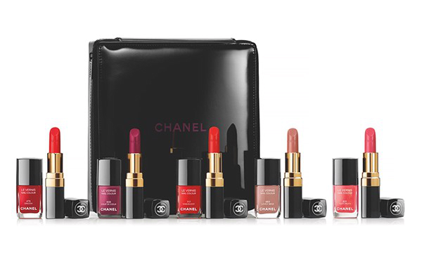 Chanel Double the Delight Gift Set with 6 Rouge Coco and 6 Le Vernis